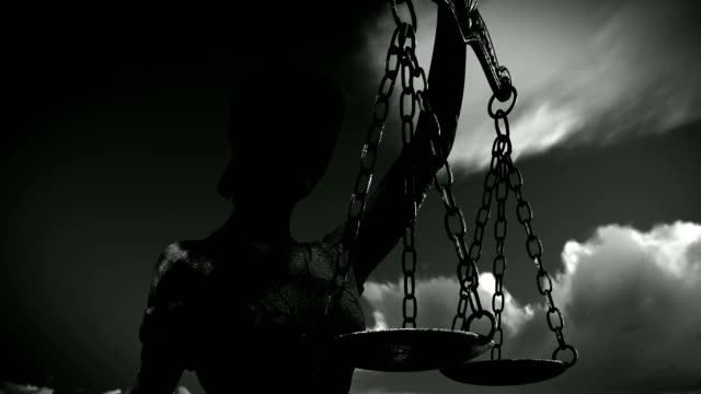 themis with scale and sword - social justice concept video stock e b–roll