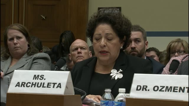 thenopm director katherine archuleta admits in testimony that any federal employee from across all branches of government may have been compromised - testimony stock videos & royalty-free footage