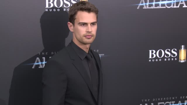 theo james at allegiant new york premiere at amc loews lincoln square 13 theater on march 14 2016 in new york city - amc loews stock videos and b-roll footage