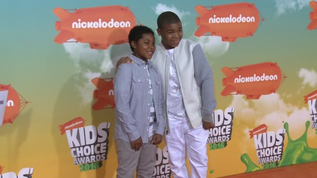 Theodore Barnes and DeVion Harris at Nickelodeon's 2016 Kids' Choice Awards at The Forum on March 12 2016 in Inglewood California