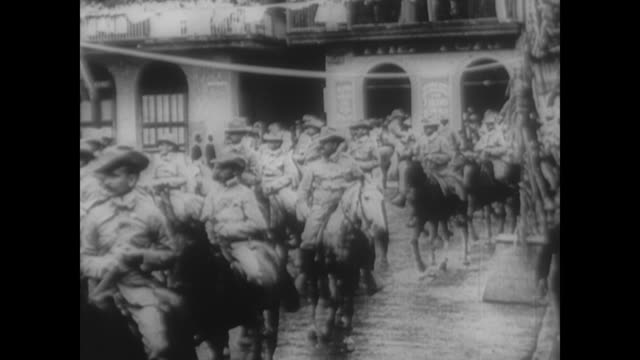 theodore roosevelt and rough riders return from war in cuba - cuba stock videos & royalty-free footage