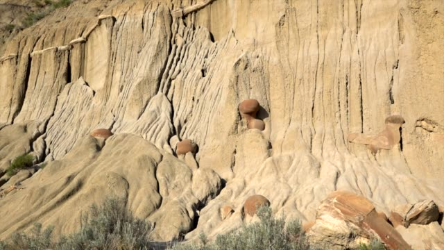 theodore roosevelt national park - sandstone stock videos & royalty-free footage