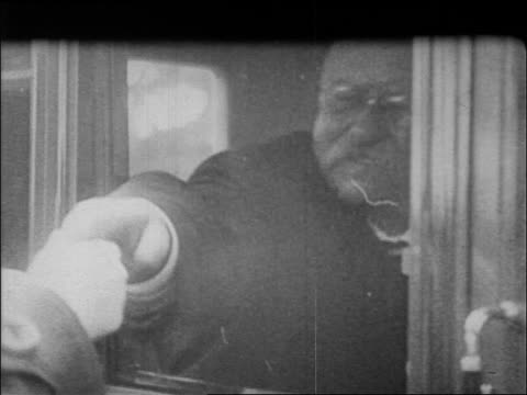theodore roosevelt sitting in car shaking hands with people / documentary - theodore roosevelt us president stock videos & royalty-free footage