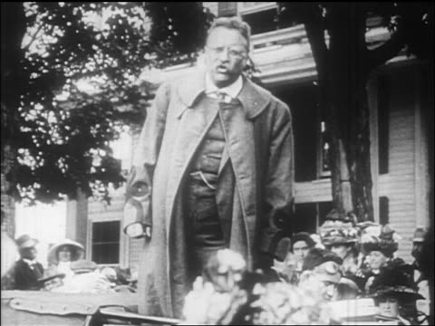 theodore roosevelt speaking forcefully to crowd / documentary - theodore roosevelt us president stock videos & royalty-free footage
