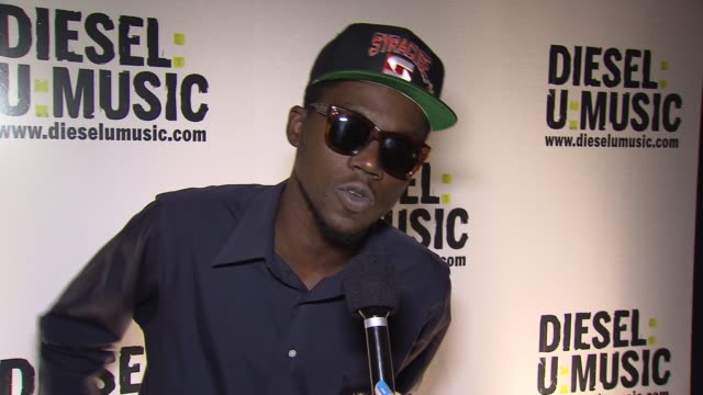 theophilus london on who he is excited to see this evening at the the 2009 dieselumusic tour hits nyc at new york ny - popular music tour stock videos & royalty-free footage