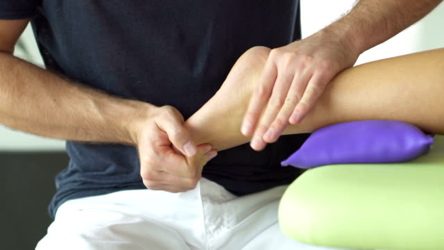 therapy of foot and lower leg - achilles tendon stock videos & royalty-free footage