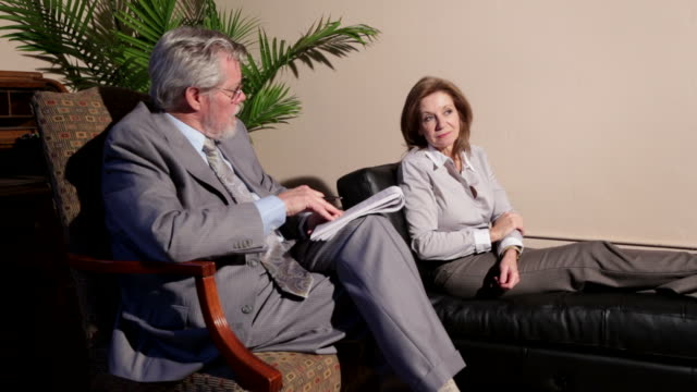 therapy - psychiatrist's couch stock videos and b-roll footage