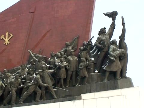 there are plenty of stops on a sightseeing tour of north korea's capital pyongyang but only one theme -- the personality cults surrounding the... - surrounding stock videos & royalty-free footage
