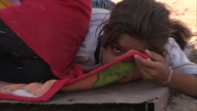 there are still big concerns for the thousands of people trying to survive on iraq's sinjar mountains some refugees have now managed to reach safety... - sinjar stock videos & royalty-free footage