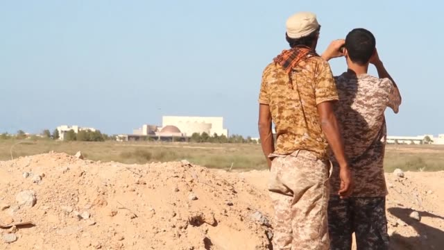there has been a lull in the fighting in the libyan city of sirte in the past week after gna forces suffered losses as they tried to reach the main... - compounding stock videos and b-roll footage