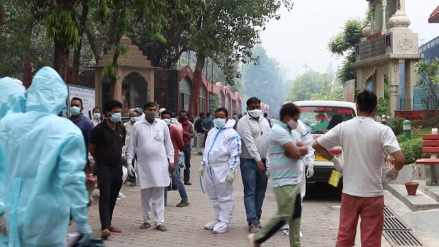 there is no space left in the capital delhi's crematoriums and graveyards due to the rapidly increasing number of the coronavirus deaths, according... - india stock videos & royalty-free footage