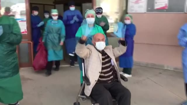 there was much applause as many survivors of the novel coronavirus were discharged from hospitals across turkey after overcoming the illness on april... - recovery stock videos & royalty-free footage
