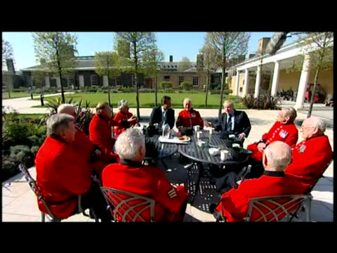 there was some interesting chemistry this morning between david cameron and the london mayor as they paid a visit to the royal hospital boris johnson... - kensington and chelsea stock videos & royalty-free footage