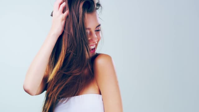 there's always a reason to smile and she's found it - smooth stock videos & royalty-free footage