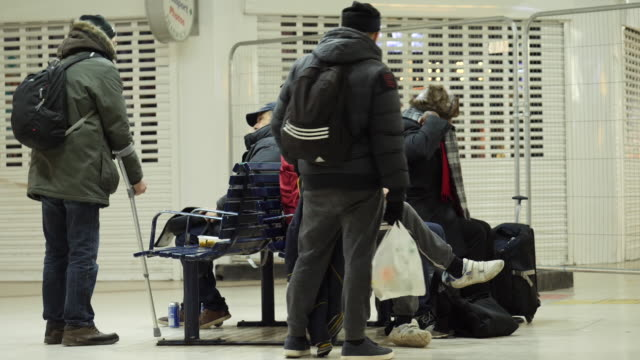 there's been a slight drop in the number of people sleeping rough in england. however in the capital - which is home to over a quarter of all rough... - homelessness stock videos & royalty-free footage