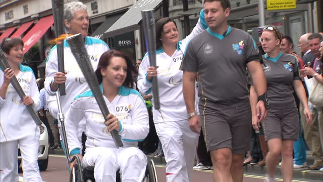 There's just a few hours to go until the Paralympic Games get underway As the Olympic Torch completes the final part of it's journey Sky's Mark Stone...