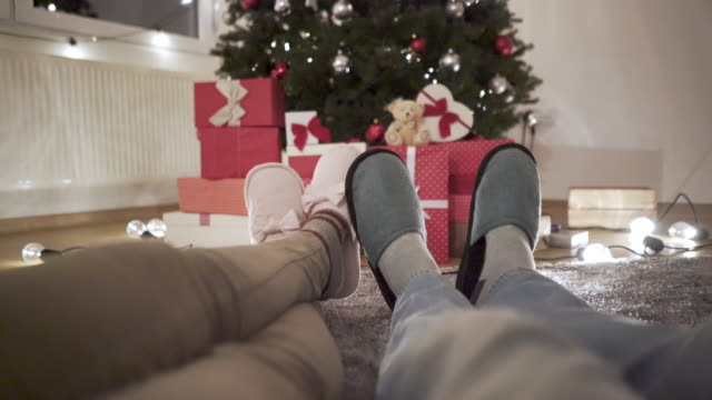 there's no place like home for christmas - slipper stock videos and b-roll footage