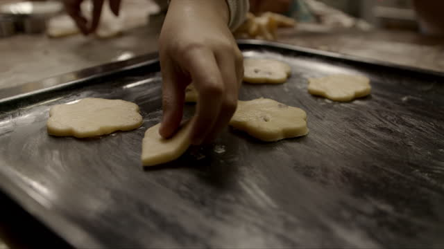 there's nothing better than homemade cookies - baking tray stock videos & royalty-free footage