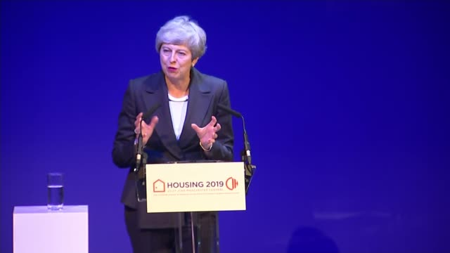 Theresa May addresses Housing 2019 event and jokes about 'disastrous' 2017 conference speech UK Manchester Prime Minister Theresa May jokes about her...