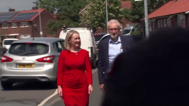 Theresa May agrees to set timetable for her departure from Downing Street ENGLAND Greater Manchester Salford EXT Labour leader Jeremy Corbyn and...
