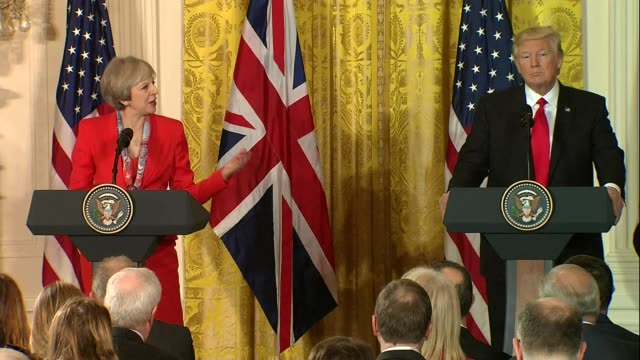 theresa may and donald trump joint press conference at white house theresa may and donald trump joint press conference at white house qa session... - waterboarding stock videos & royalty-free footage