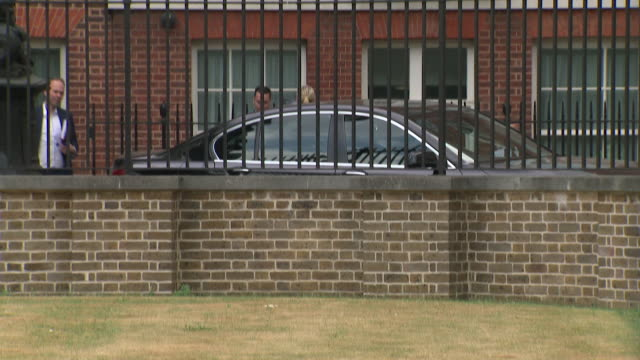 theresa may and her motorcade leaving for the house of commons after the resignations of david davis and boris johnson - david m. davis politician stock videos & royalty-free footage