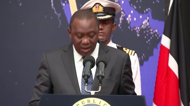 Theresa May and Uhuru Kenyatta speeches at KenyaUK business forum KENYA Nairobi Strathmore University PHOTOGRAPHY*** Uhuru Kenyatta speech at KenyaUK...