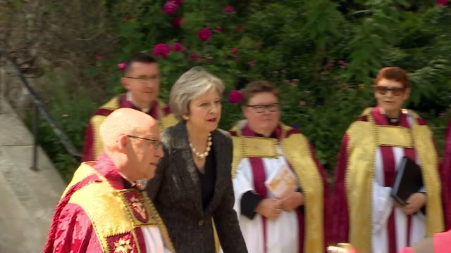 Theresa May attending a memorial service for victims of the London Bridge terror attacks on the oneyear anniversary