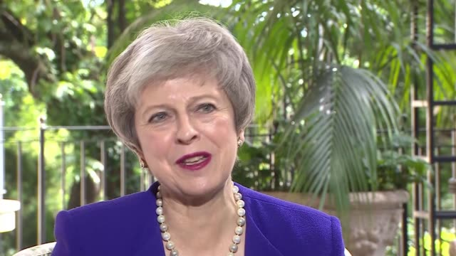 Theresa May attends G20 Summit / Brexit debate ARGENTINA Theresa May MP interview re Brexit as she attends G20 Summit Buenos Aires EXT ITN reporter...
