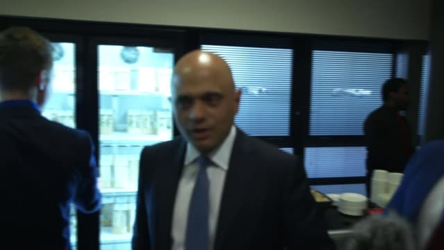 Theresa May attends Scottish Conservative Party Conference after English local election losses SCOTLAND Aberdeen INT Various shots of Sajid Javid MP...
