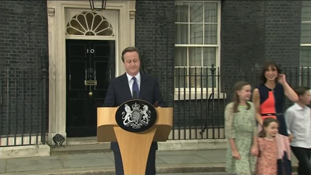 handover of power downing street ext david cameron samantha cameron and children nancy elwen and florence departing number 10 david cameron speech... - 10 11 years stock videos & royalty-free footage