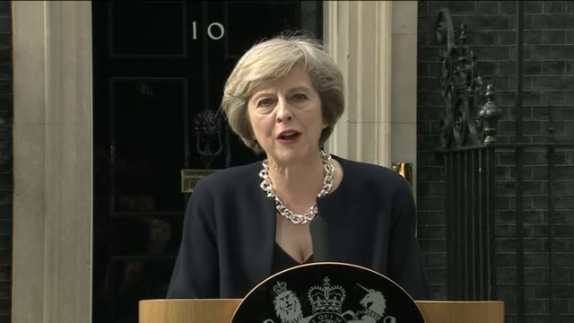 handover of power theresa may and philip may out of car and along downing street theresa may speech sot we are living through an important moment in... - theresa may stock videos & royalty-free footage
