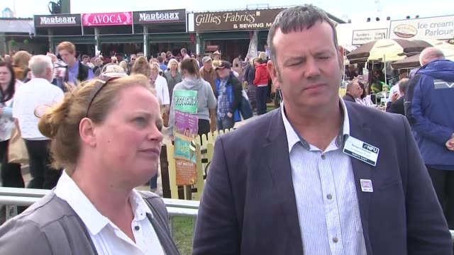handover of power yorkshire harrogate damon green at great yorkshire show sot rachael hallos and richard bramley interviews sot green sot seldon and... - damon green stock videos and b-roll footage