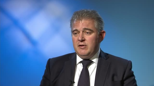 Theresa May completes cabinet reshuffle INT Brandon Lewis MP interview SOT On Justine Greening