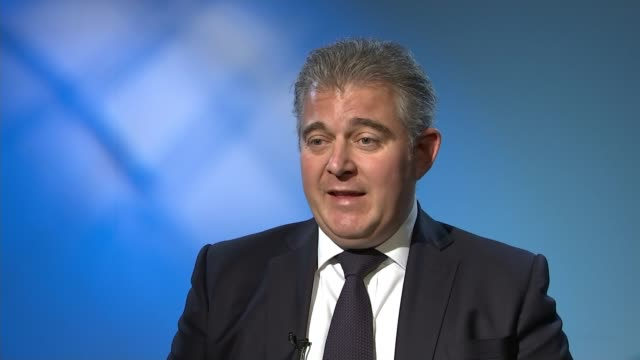 Theresa May completes cabinet reshuffle London INT Brandon Lewis MP interview SOT