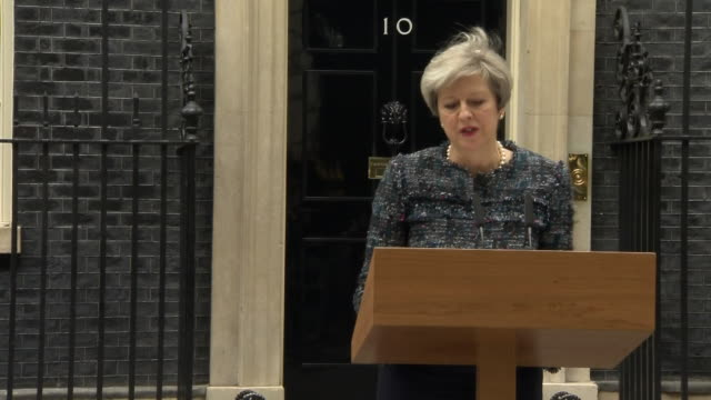 Theresa May confirming the dissolution of Parliament
