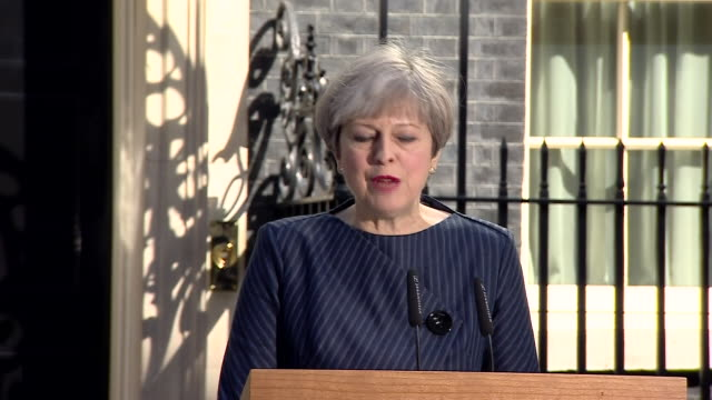 theresa may criticising labour the liberal democrats the snp and the house of lords for fighting against the terms of brexit - allgemeine wahlen stock-videos und b-roll-filmmaterial