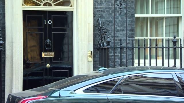 Theresa May departs 10 Downing Street ENGLAND London Downing Street EXT Theresa May MP out of 10 Downing Street into car and away