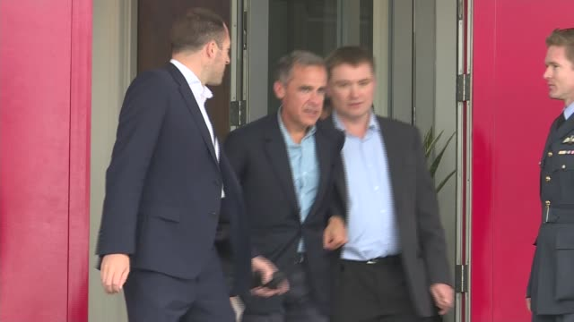 theresa may departs for g20 summit in china mark carney departing building and along - group of 20 stock videos & royalty-free footage