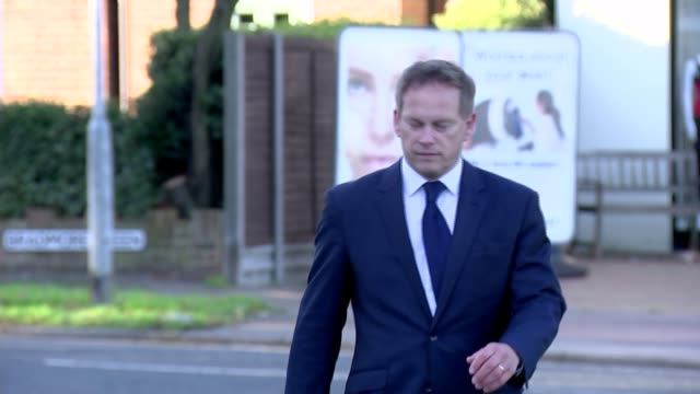 theresa may fights off pressure to resign as receives backing of senior politicians hertfordshire welwyn garden city ext grant shapps mp along - welwyn garden city stock videos and b-roll footage
