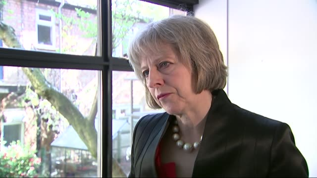 london int theresa may mp interview sot on combating extremism and radical groups / legislation to deal with these individuals who are preaching this... - aggression stock videos & royalty-free footage