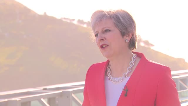 Theresa May interview in Cape Town SOUTH AFRICA Cape Town EXT Theresa May MP interview SOT On whether she did anything to support the release of...