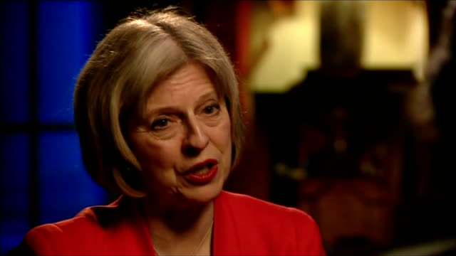 theresa may interview theresa may interview sot having discussions with a number of countries about exclusion orders on success of terrorism... - shaker aamer stock videos & royalty-free footage