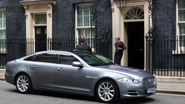 Theresa May Leaves Downing Street For Prime Minister Questions on October 19th 2016