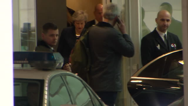 Theresa May leaving EU in Brussels