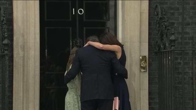 Theresa May makes further cabinet appointments TX David Cameron MP his wife Samantha Cameron and children photocall waving from steps of Number 10 as...
