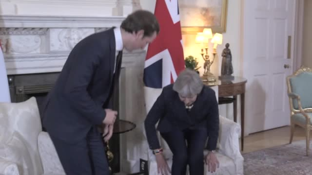 Theresa May meets Austrian chancellor Sebastian Kurz at Downing Street where she is asked by the waiting press who the next foreign secretary will be...