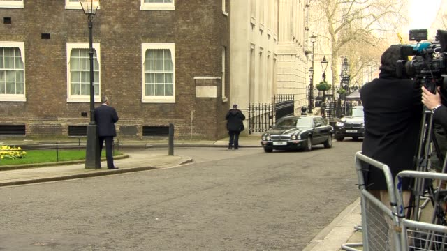theresa may meets prime minister of portugal at downing street england london downing street ext antonio costa along from car / theresa may mp... - downing street stock videos and b-roll footage