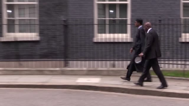 pm theresa may meets with nigerian president muhammadu buhari at 10 downing street footage from the top of the bilateral meeting - 10 downing street stock videos and b-roll footage