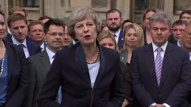 theresa may mp is to become the leader of the conservative party and prime minister on wednesday. her confirmation was swift when it came, less than... - conservative party uk stock videos & royalty-free footage